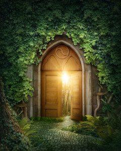 Portal im Wald