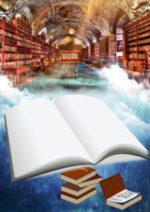 Bücherei über den Wolken